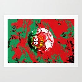 football Portugal  Art Print