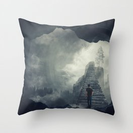 crossing abyss Throw Pillow