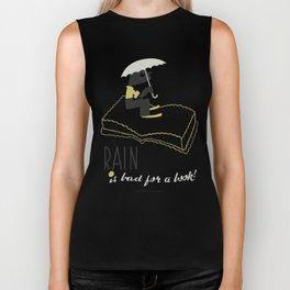 Rain is Bad for a Book Biker Tank