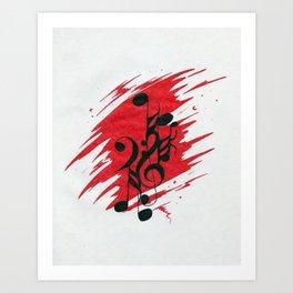 Euphoric Manic Music Art Print