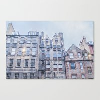 edinburgh Canvas Prints featuring EDINBURGH by Marte Stromme