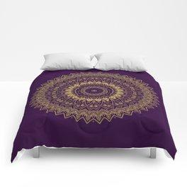Harmony Circle of Gold on Purple Comforters