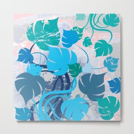 Monstera cavalcade Metal Print