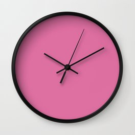 Thulian pink - solid color Wall Clock
