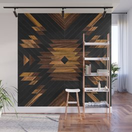 Urban Tribal Pattern No.7 - Aztec - Wood Wall Mural