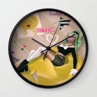 clueless Wall Clocks featuring ASHLEY  by Enola Jay