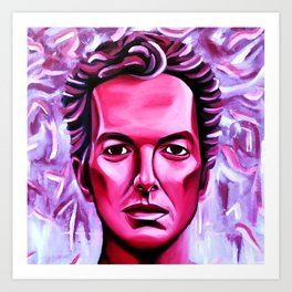 Joe Strummer is Burning Art Print