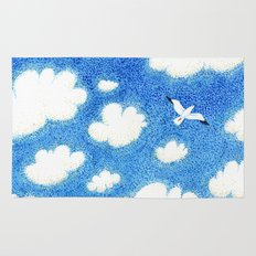 Seagull in the sky Rug