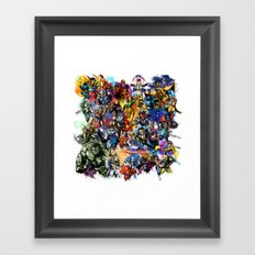 Marvel MashUP Framed Art Print