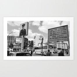 Checkpoint Charlie Berlin Art Print