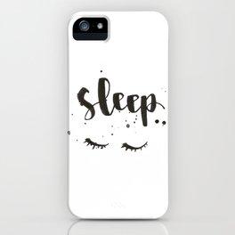 sleep calligraphy iPhone Case