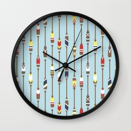 Bait & Sail - Oars Wall Clock