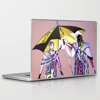 hamlet Laptop & iPad Skins featuring hamlet &  horatio go to American by seb mcnulty