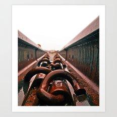Train track aesthetics Art Print