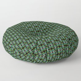 Egg green and blue Bow 03 Floor Pillow