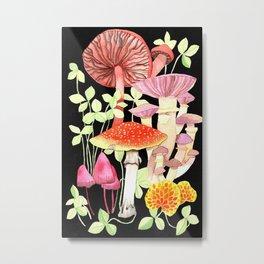 Magical Mushroom Print Metal Print