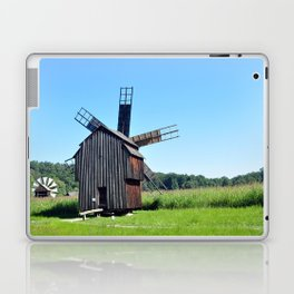 sibiu romania ethno museum wood wind mill Laptop & iPad Skin