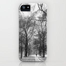 Winter jog iPhone Case