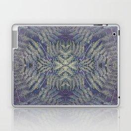 SYMMETRICAL PASTEL PURPLE BRACKEN FERN MANDALA Laptop & iPad Skin