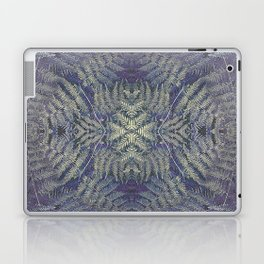 SYMMETRICAL PASTEL PURPLE BRACKEN FERN MANDALA Laptop & iPad Skin