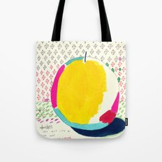 Diamond and Yellow Apple Tote Bag
