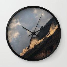 Glacier National Park Sunrise Wall Clock