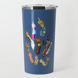 Artists Middle Fingers Travel Mug