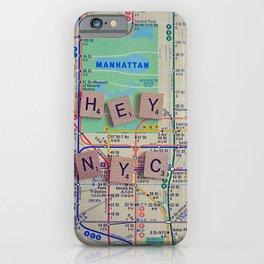 New York City, NYC Map, Subway, Travel iPhone Case