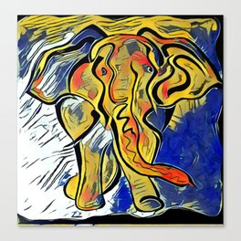 Lilys Elephant Canvas Print