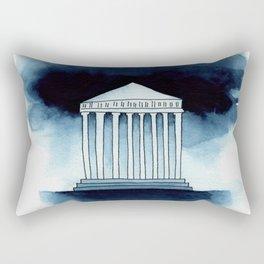 Parthenon in watercolor Rectangular Pillow
