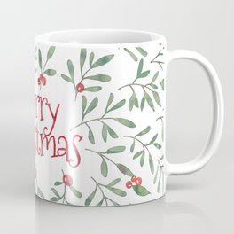 Watercolor Mistletoe Coffee Mug