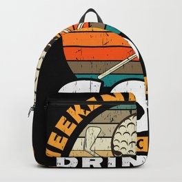 Weekend Forecast Golf Drinking Gift Backpack