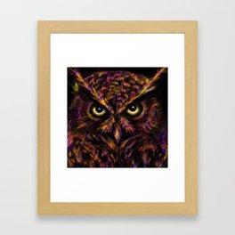 Grumpy Owl Framed Art Print