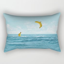 Free Bananas Rectangular Pillow