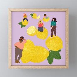 Lemon Babes Framed Mini Art Print