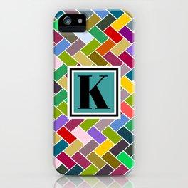 K Monogram iPhone Case