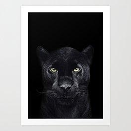 Panther on black Art Print