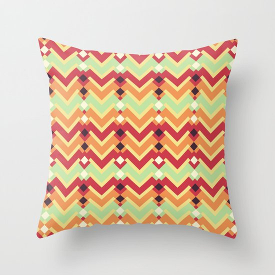 Fractal mountains - salad Throw Pillow
