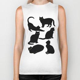 Black Cats Biker Tank