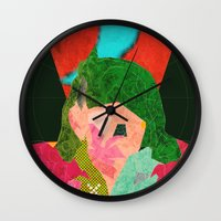 chile Wall Clocks featuring Escape to Chile by Alec Goss