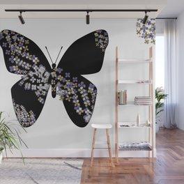 Butterfly & Flowers Wall Mural
