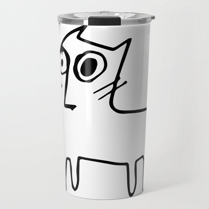 A mangy, miffed and slightly damaged cat Travel Mug