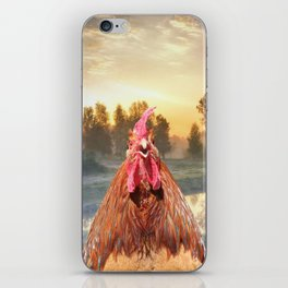 Rise and Shine - Whimsical rooster series #1 iPhone Skin