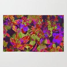 colorful floral with purple accent Rug