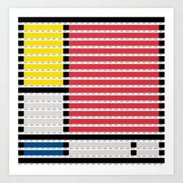 Mondrian pantone as pixel Art Print