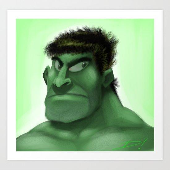 Green Hunk Art Print
