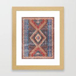 (N16) Boho Moroccan Oriental Artwork for Rustic and Farmhouse Styles. Framed Art Print