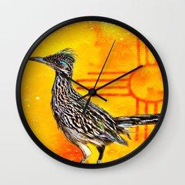 New Mexico Roadrunner's Zia Wall Clock