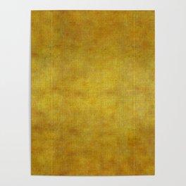 """""""Gold & Ocher Burlap Texture"""" Poster"""