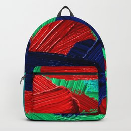 11 | Abstract Expressionism| 210210| Digital Abstract Art Textured Oil Painting Backpack